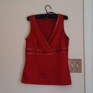 NY&Co. Red satiny tank top